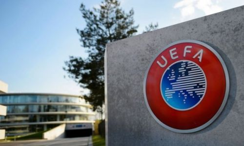 Jury for the headquarters of the Union des Associations Europèennes de Football. Nyon, Switzerland