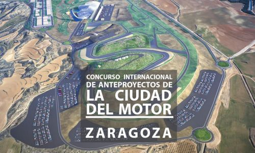 Jury for the international competition for the Motor City of Aragón. Zaragoza, Spain
