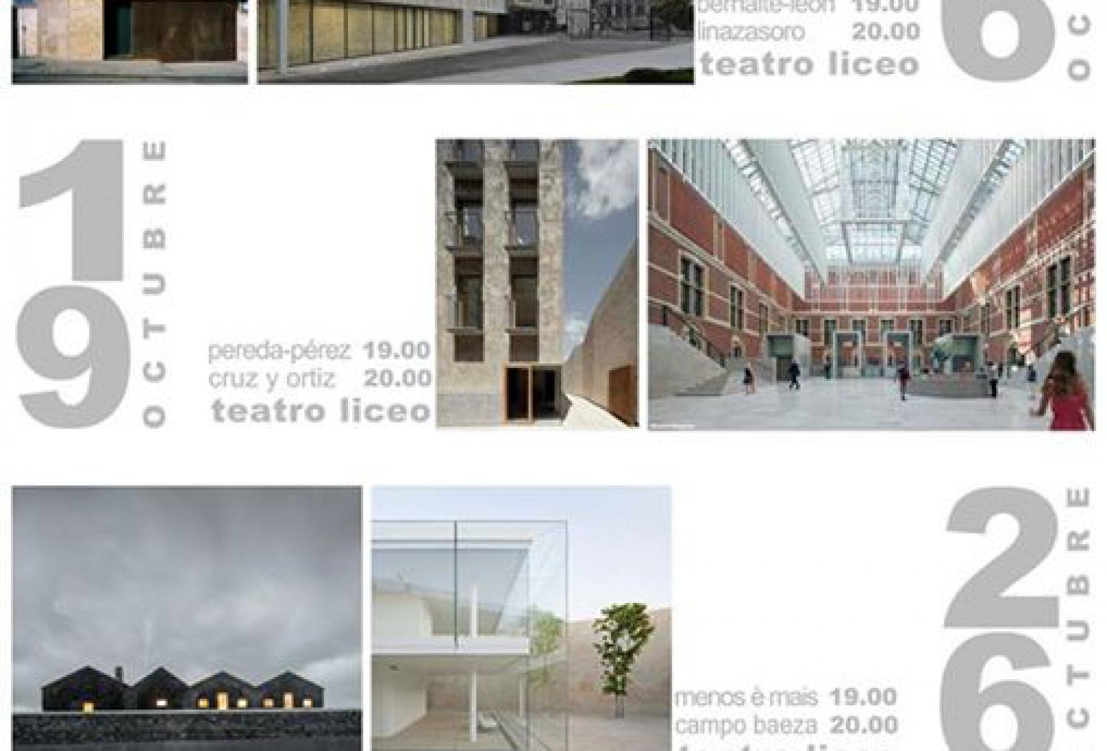 Conferencia de cruz y ortiz arquitectos en el liceo de - Arquitectos en salamanca ...