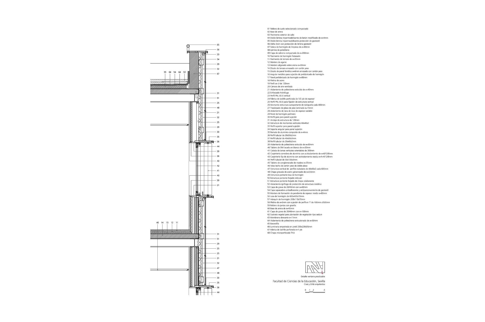 Cruz y ortiz arquitectos facultad ciencias educacion - Detalle carpinteria aluminio ...