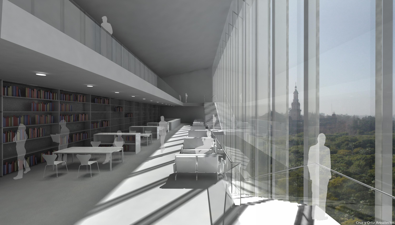 Cruz y ortiz arquitectos biblioteca de la universidad de for Diseno de interiores universidad publica